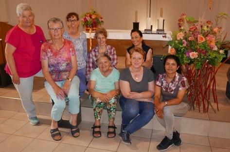 Blumengruppe am Kurs 2019