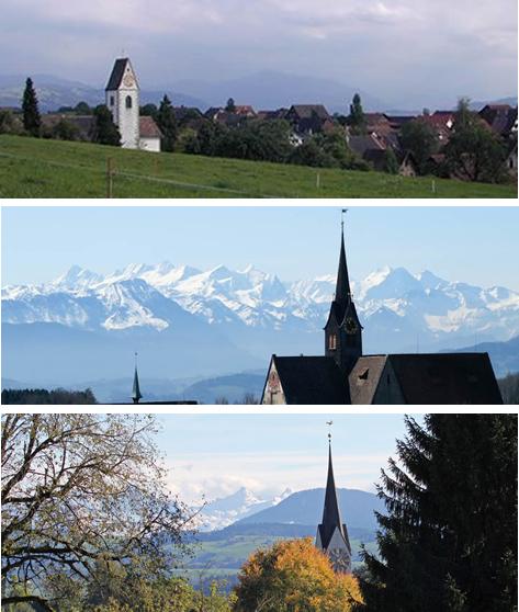 Kirche Rifferswil, Kirche Kappel, Kirche Hausen