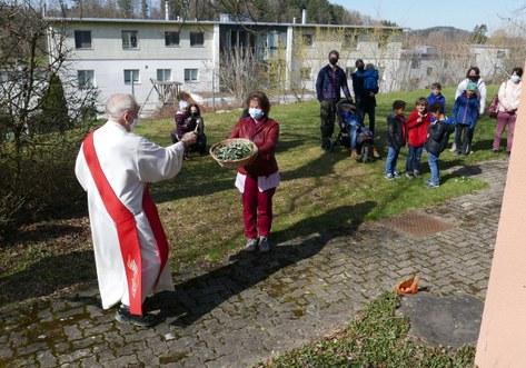 Segnung der Zweige für den Kindergottesdienst